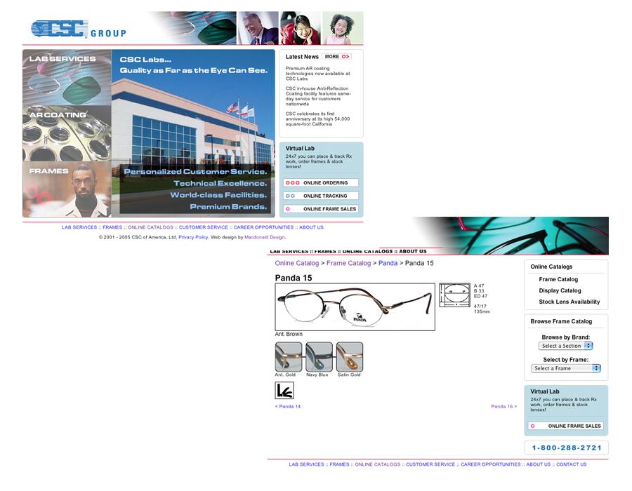 CSC Labs Website (2001-2010)
