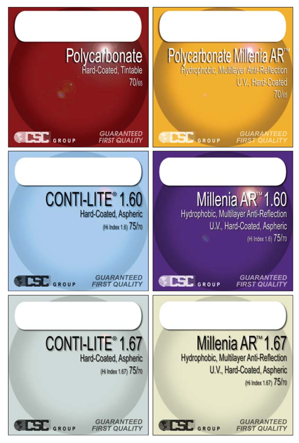 CSC Stock Lens Packaging