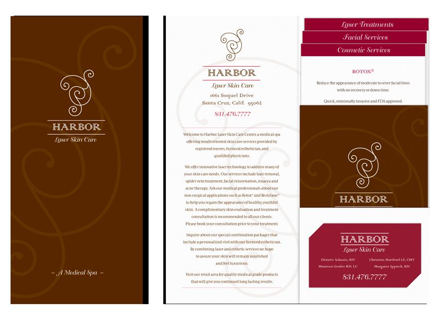 Harbor 1-pocket Folder Brochure
